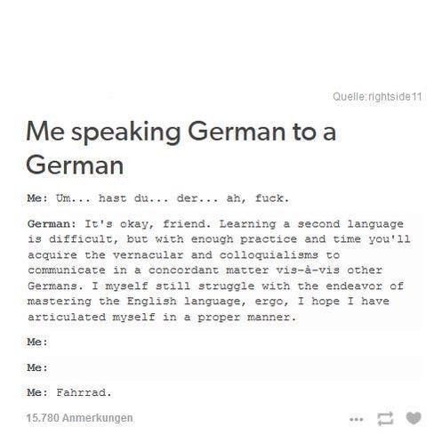 Me Speaking German To A German