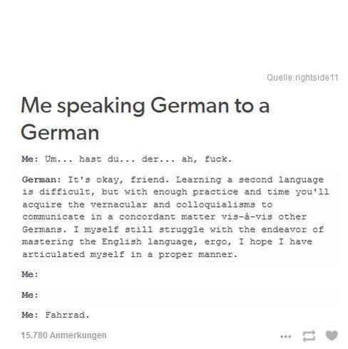 Me Speaking German To A German